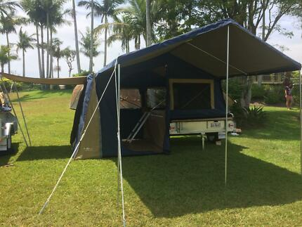 OZTRAIL CAMPER TRAILER GALVANISED New+ANNEX+kitchenette+Rego Biggera Waters Gold Coast City Preview