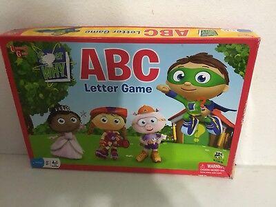 Pbs Kids Super Why Board Game Abc Letter Game Preschool Euc
