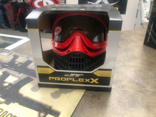 JT Proflex X Paintball Goggle Mask - Red