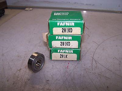 3 New Fafnir 201kd Single Row Ball Bearings Lot Of 3