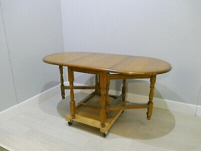 Light Oak Antique Style Drop Leaf Oval Dining Table  |177
