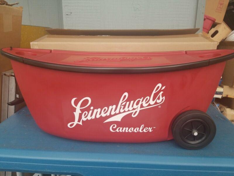 Leinenkugel's Canoe Beer Canooler Drink Ice Chest cans bottle northwoods wi new