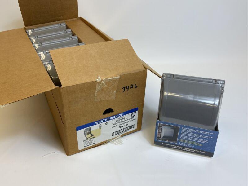 6 Pack Carlon E9U2GRN2 Weatherproof In-Use Cover, 2-Gang, Non-Metallic + Inserts