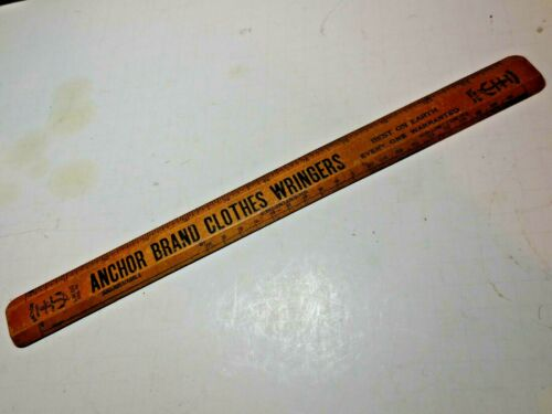 "Anchor Brand Clothes Wringer - Lovell Manufacturing Co - 12"" Advertising Ruler"