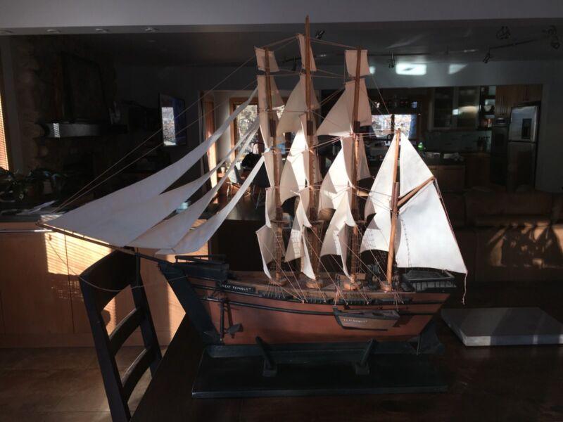"Clipper Ship, Antique model ship of ""The Great Republic"""