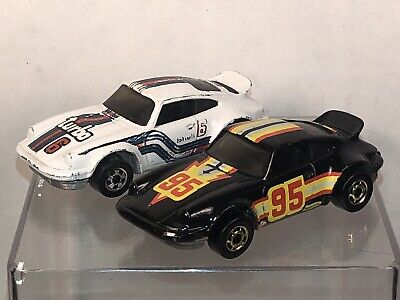 1974 Hot Wheels P-911 Porsche Turbo White & Black W/ Gold Rims