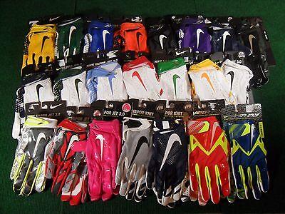 Nike UA Vapor Jet 3.0 Knit Fly Skill Receiver Football Gloves 4.0 Superbad Swarm - Jets Flying
