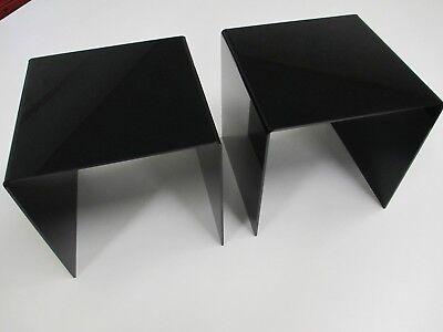 2 Piece 8 X 8 X 8 Acrylic Display Risers Black