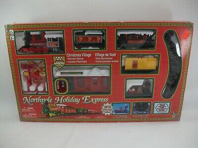 Northpole Holiday Express Christmas Village Train Set Decoration Works