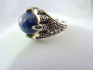 STERLING-RING-BLUE-PURPLE-STONE-SZE6-75-8-1g-FREE-SHIPPING
