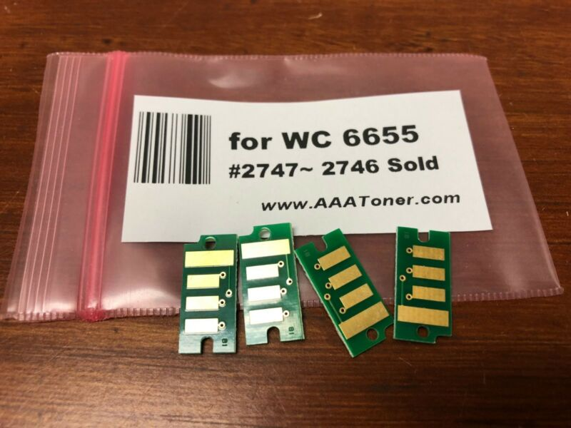 4 High Yield Toner Chip for Xerox WorkCentre 6655 Refill (2747 - 2746) SOLD