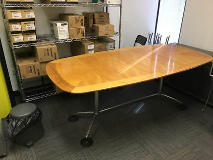 Eames Style Solid Timber Boardroom Table