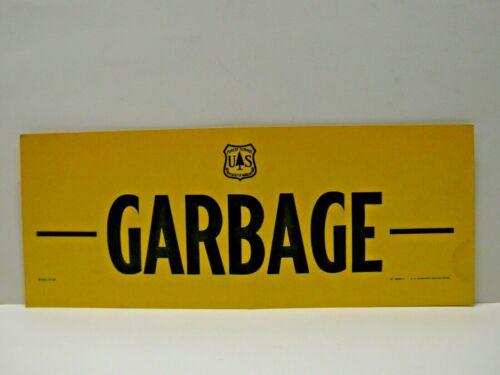 Old Vintage Forest Service Sign GARBAGE