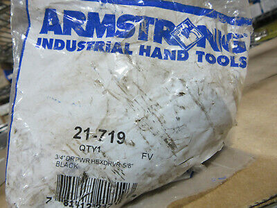 Armstrong 21-719 Impact 34 Drive X 58 Long Hex Made In Usa New Sealed Pk