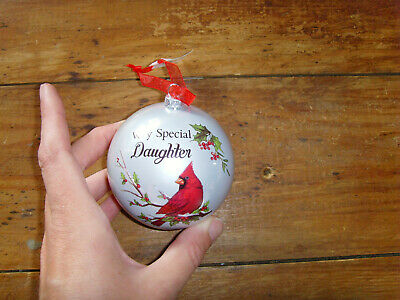 Christmas ornament Cardinal Red Bird Grandpa Grandma Daughter Dad Manicurist NEW ()