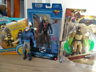 Dc Multiverse Martian Manhunter Collect & Connect Clayface, Black Bat etc. Lot