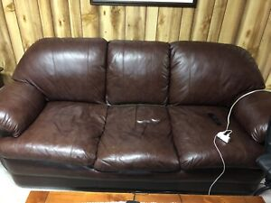 Two large leather couches