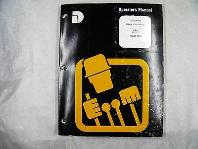 Dresser 970 Tire Dozer Operators Manual
