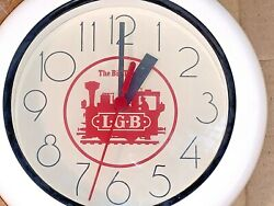 VINTAGE LGB THE BIG TRAIN WHITE WALL CLOCK NEW OPEN BOX VERY RARE!!