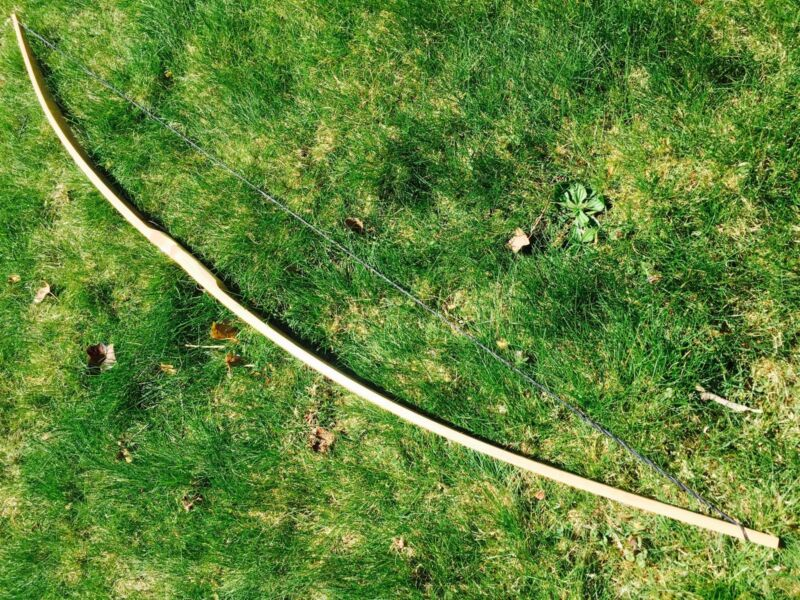 "55/60lb 64"" Traditional Hickory Longbow - Ringing Rocks Archery"