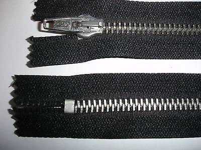 RV 314 Reißverschluß opti schwarz 15cm, nicht teilbar 2 Stück