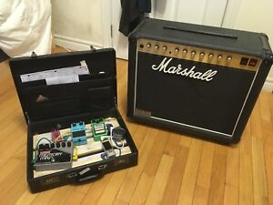 Marshall JCM 800 combo and pedals