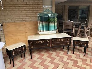 Antique dressing Table and side cabinets.