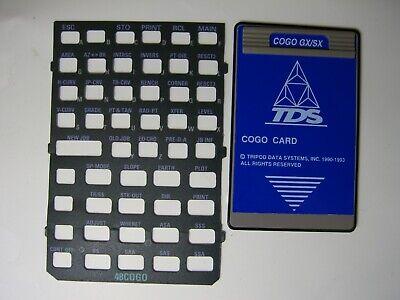 Tds Cogo Gxsx Cogo Card Version 4.1 Overlay For The Hp 48gxsx