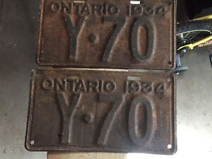 Pair of 1934 plates for sale