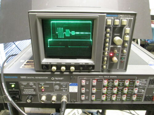 Tektronix 1910 NTSC Video Generator WORKING! VITS 10 bit GCR PROGRAMMABLE Studio
