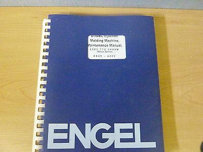 Engel Enjection Molding Machine Es25-4000 Maintenance Manual 11954