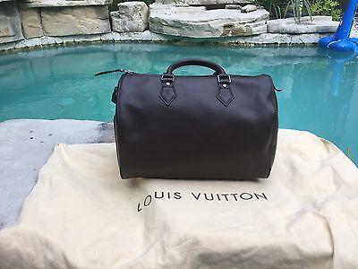 Louis Vuitton Mocha Epi Leather Speedy 30 Cassis Top Handle Bag