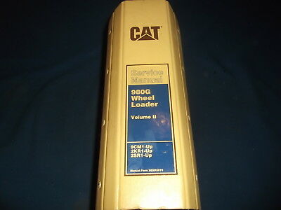 Cat Caterpillar 980g Wheel Loader Service Shop Repair Book Manual 9cm 2sr 2kr V2