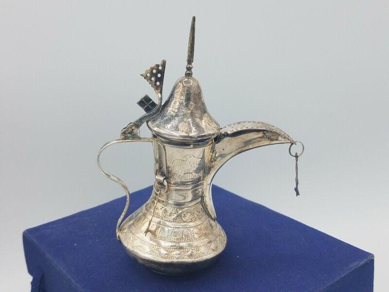 Sterling Silver Dallah Coffee Tea Pot 925 U.A.E. United Arab Emirates