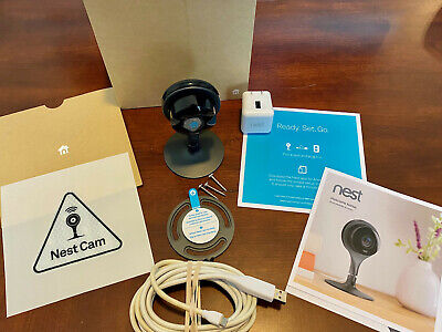 Google Nest Cam Indoor Security Camera With Original Box And Accessories