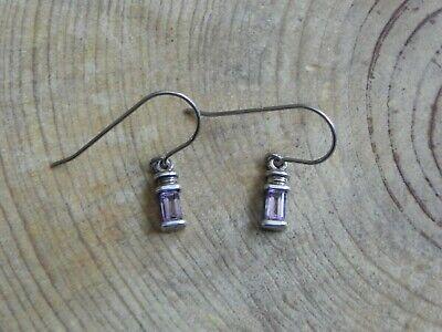Amethyst & Sterling Silver .925 Dainty dangle Earrings by Avon Avon Amethyst Earrings