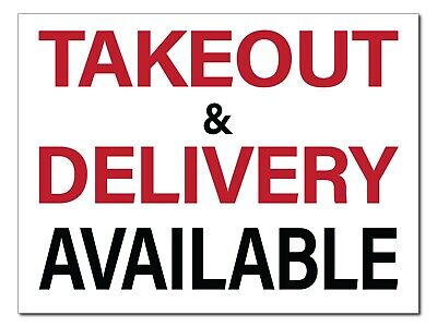 Takeout Delivery Signs12pk Double Sidedcorrugated Plastic Free Shipping