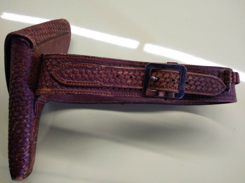 vintage E.H. Bohlin flap holster and belt