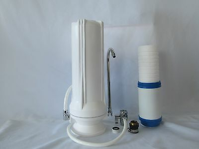 Counter Top Dual Stage Drinking Water Filter | Sediment/Carbon Cartridge Countertop Double Stage Filter