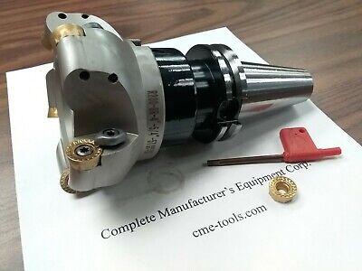 4 Face Mill R200 W. 5 Sandvik Rckt1606 Round Inserts W. Cat40 506-rckt16-4
