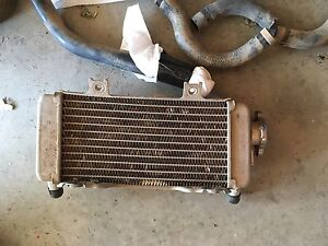 Right radiator and tubes for crf250x/250r