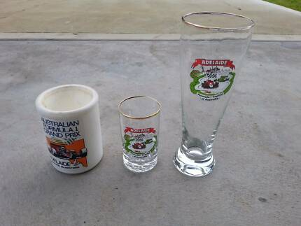 Adelaide Formula 1 Glasses and stubby holder Ridgehaven Tea Tree Gully Area Preview