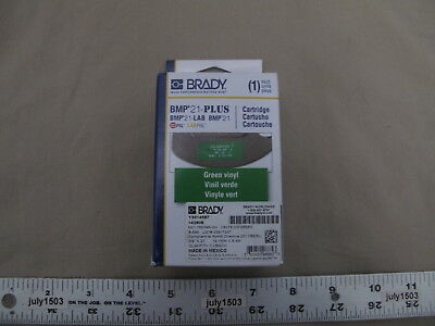 1 New Brady Label Cartridge M21-750-595-gn Whitegreen Vinyl 34 X 21 Bmp21