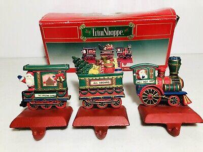 Set 3 Train Christmas Stocking Holders, Trim Shoppe
