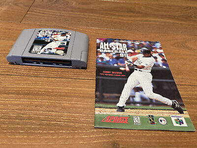 (2 Games) All-Star Baseball 1999 2000 Nintendo 64 N64 Game Cartridge - Tested