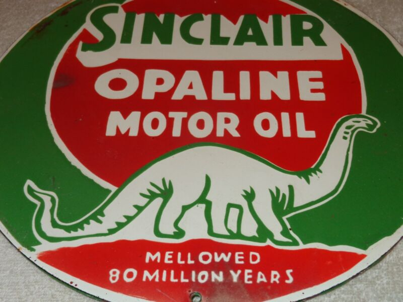 Dino Gasoline Tin Sign 12 x 12 inch Sinclair Collectible Gas and Oil Decoration
