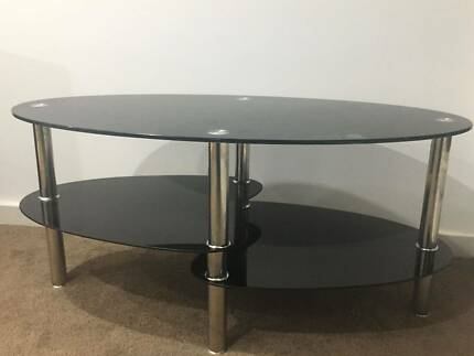 Glass Coffee Table Fantastic Furniture Zoe model Like New