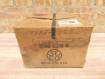 Superior Electric Powerstat Type 1256 B Variable Transformer 7.5 Kva 28 Amps Nos