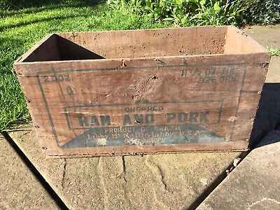 Libby McNeill & Libby USA 1930's Rare Antique Vintage Crate/Box