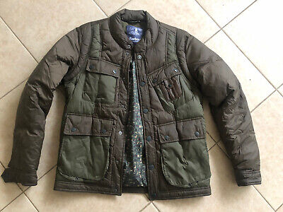 Barbour White Mountaineering Olive Whinyama Padded Jacket Medium Ex Cond!!
